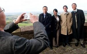 Fotosession auf der Burg Hohenzollern.