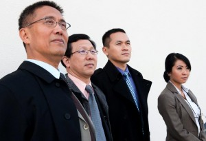 Die chinesische Delegation mit Herrn Wu, Herrn Li, Wang Chong und Ling Ling (Yu Fang, Zengquan Guo, Kevin Chen, JinJin Harder) besucht Baden-Württemberg.