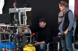 Regisseur Hannes Stöhr mit Regieassistentin Tanja Däberitz.