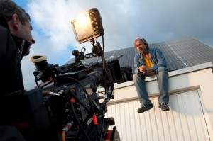Stefan Hallmayer (Matthias Bogenschütz) mit Kameramann Andreas Doub.