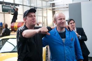 Regisseur Hannes Stöhr mit Berthold Biesinger.