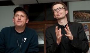 Regisseur Hannes Stöhr mit Produzent Karsten Aurich.