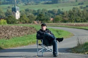 Regisseur Hannes Stöhr am 1. Drehtag.