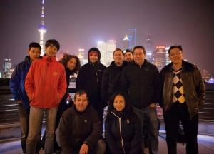 Dreh in Shanghai.