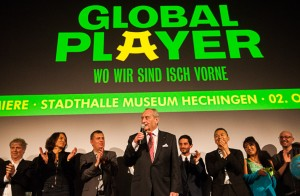 Walter Schultheiß bei der großen Gala-Premiere in Hechingen