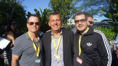 Jon Gerrans (Co President- Strandrelasing), Hannes Stöhr (Director/screenwriter Global Player), Andres Castillo (Programmer  Miami International Film Festival)